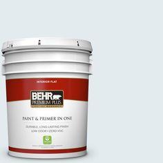 BEHR Premium Plus 5-gal. #ppl-35 Blizzard Zero VOC Flat Interior Paint