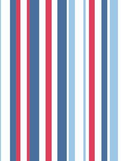 Arthouse Super Stripe Blue Red and White Wallpaper--this might be the one!