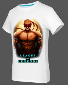 XXXL Lee Sin mens tshirt short sleeve for summer game League of Legends-