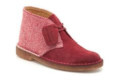 Womens Originals Boots - Desert Boot in Red/Cream from Clarks shoes