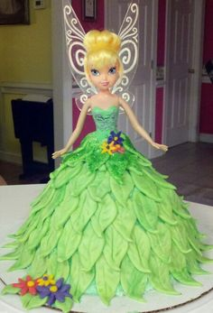 Tinker bell cake made by...j.stephens and l.tedder