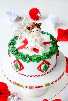 Kessy's Pink Sugar: Christmas Angel Cake und ein Früchtekuchen