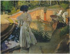 Watching the Fish - Joaquín Sorolla - Completion Date: 1907