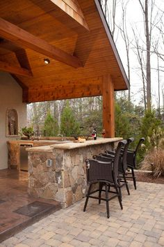 An outdoor bar makes entertaining so easy! Check out these awesome built-ins and creative DIY ideas that are perfect for any backyard party. ideas about Patio bar, Outdoor bars near me and Farmhouse outdoor bar furniture.