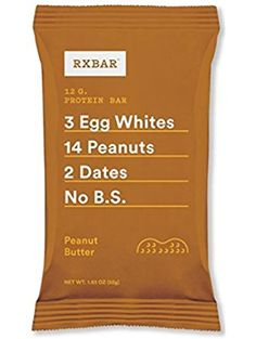 RXBAR Whole Food Protein Bar, Peanut Butter, 1.83 Ounce (Pack of 12) ❤ Chicago Bar Company LLC