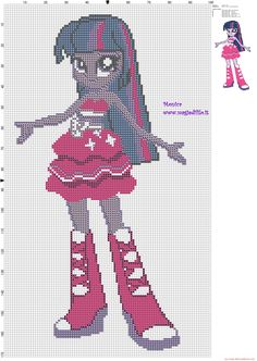MLP Equestria Girls Twilight Sparkle pattern (click to view)