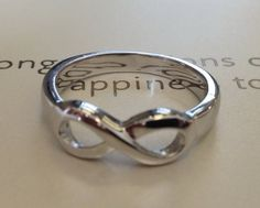 Sterling Silver FREE ENGRAVING .925, Infinity Ring Friends, infinity sisters, mom, sister, infinity symbol, best friends