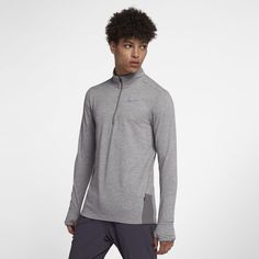 innovative design 07b36 bb075 Nike Therma-Sphere Element Men s 1 2-Zip Running Top - Grey Hand