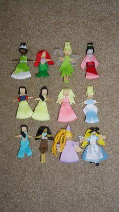 Disney Princess Hair Bow Clip - Tiana, Ariel, Tinkerbell, Mulan, Snow White, Belle, Aurora, Jasmine, Pocahontas, Rapunzel, Alice. $10.00, via Etsy.
