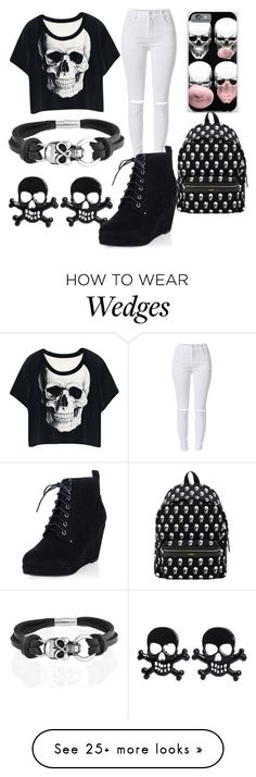 """Skulls"" by fashforfunfff on Polyvore featuring Bling Jewelry, Yves Saint Laurent, women's clothing, women's fashion, women, female, woman, misses and juniors"