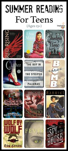 summer reading list for teens (ages 13 and up)