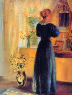 Young Girl in front of Mirror (Anna Ancher) - Anna Ancher - Wikipedia