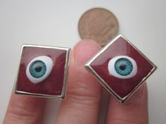 Red Eye Cufflinks by GreenwoodMakes on Etsy