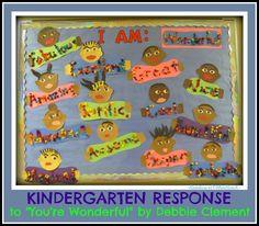"Kindergarten Bulletin Board for Author Study ""You're Wonderful"""