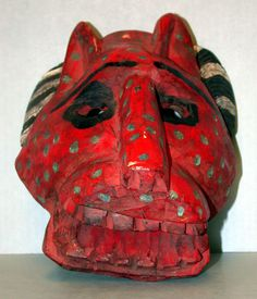 "Figure 1    Maya ""Wolf"" Mask from the Ethnology Collection of the Sam Noble Oklahoma Museum of Natural History"