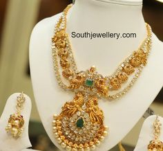 Uncut Diamond Necklace latest jewelry designs - Page 2 of 40 - Jewellery Designs