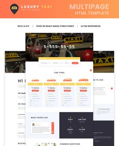 Website Theme , Luxury Taxi Multipage