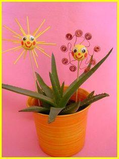 Letní sluníčka – zápichy | Rodina21 #sun #child #flower #summer #ideas