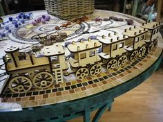 Wooden baby train