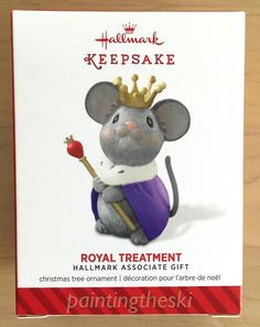 a5444399a2b 2014 Hallmark Ornament ROYAL TREATMENT Mouse Associate Gift Keepsake  Limited NEW  Hallmark