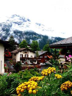 The picturesque landscape of Jungfrau, Switzerland.