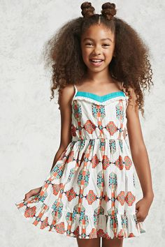 Girls Printed Cami Dress (Kids)