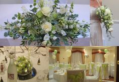 White and green weddings flowers. Fresh and modern. By Moss of Buckingham.