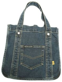 denim bag inspiration by Aniky Denim Purse, Tote Purse, Denim Jeans, Jean Purses, Purses And Bags, Mochila Jeans, Diy Sac, Denim Handbags, Recycled Denim