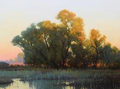 """Sanctuary's Last Light - 18"""" x 24"""" - Oil - Kevin Courter"""