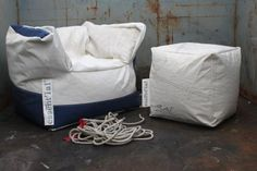 Essenti'al Eco Chairs and Poufs from recycled sail cloth