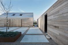 Christoffersen Welling Architects reinterprets Danish barn as cedar-clad home Architecture Durable, German Architecture, Innovative Architecture, Architecture Awards, Architecture Design, Concrete Pathway, Danish House, Clad Home, Polished Concrete Flooring