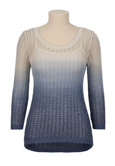 Ombre High-Low Hem Sweater available at #Maurices