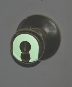 Glow In the Dark Door Knob Sticker at $2.99 for 5 pack beats fumbling with a dark keyhole in the middle of the night.
