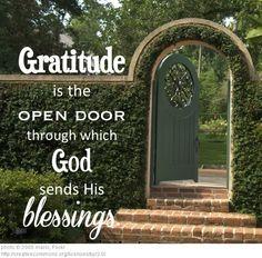 Gratitude is the open door...