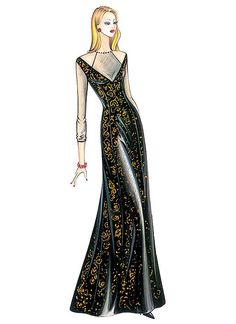Fabric required about mt 3 70 - mt 1 40 wide Elegant evening gown in brocade or velvet to be worn with cashmere shrug n 0328 Marfy Patterns, Mccalls Sewing Patterns, Vogue Patterns, Fashion Sketches, Fashion Illustrations, Evening Gowns, Strapless Dress Formal, Fashion Design, Kwik Sew