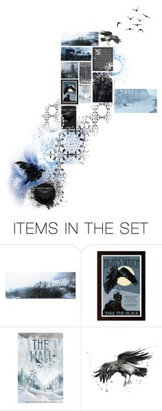 """""""Castle Black - The Nights watch"""" by sue-wilson1967 ❤ liked on Polyvore featuring art, GameOfThrones and nights"""