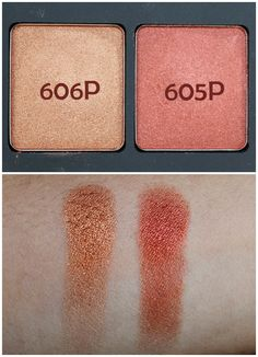 The Girl On Fire Palette - Inglot. These two are dupes for MAC Amber Lights and Coppering.