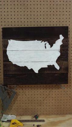 United States Pallet Art.