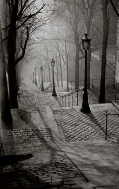 With the nights in Paris getting longer, the trees looking more naked and the cobblestones glistening with rainwater, I can't help but be reminded of Brassai's Paris de Nuit. The Transylvania-born photographer came to city of light in the 1920s to capture its notorious creatures of the night and wha