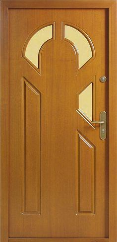 Drewniane wejściowe drzwi zewnętrzne do domu z katalogu modeli klasycznych wzór 537s3z