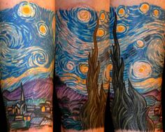Photo of Rising Dragon Tattoos - New York, NY, United States. Van Gogh Starry Night by Darren