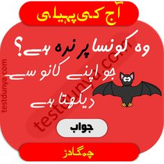 Riddles in Urdu for Kids with Answers 2020 Tough Riddles, Funny Puzzles, Chai Quotes, Love Life Quotes, Knowledge, Humor, Logos, Creative, Kids