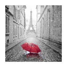 Black and white photo paris eiffel tower with red umbrella canvas wall art print Paris Canvas, Paris Wall Art, Paris Torre Eiffel, Paris Eiffel Tower, Paris Decor, Paris Theme, Paris Pictures, Paris Photos, Canvas Wall Art