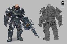 Character Design Shadowgun Legends: Scout, Joris Dewolf on ArtStation at https://www.artstation.com/artwork/lyByV