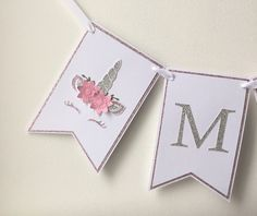 A personal favourite from my Etsy shop https://www.etsy.com/uk/listing/600610923/personalised-unicorn-bunting-garland