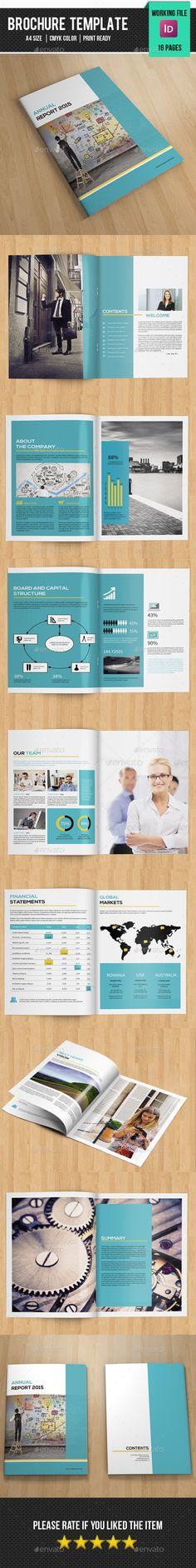 Annual Report Brochure Template #design Download: http://graphicriver.net/item/annual-report-brochurev272/12003819?ref=ksioks