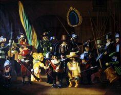 Pierre-Adrien Sollier - La ronde de nuit, Rembrandt