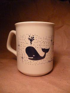 Vintage Whale Coffee Mug on Etsy, $5.00