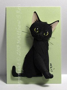 CUSTOM Kitten Cat ACEO Mini Paper Sculpture by PaperMatthew, $55.00 Cat Crafts, Arts And Crafts, Paper Dolls, Art Dolls, Paper Art, Paper Crafts, Paper Animals, Origami, Paper Quilling