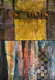 Collages from Gerald Brommer workshop - created via http://pinthemall.net